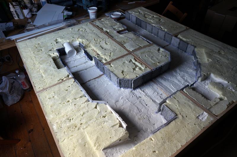 modular gaming board construction log sci fi industrial munda