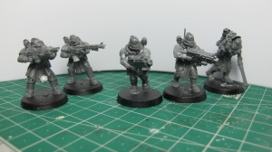 Lasgun, Hunting Rifle, Bolter and CC Mercs