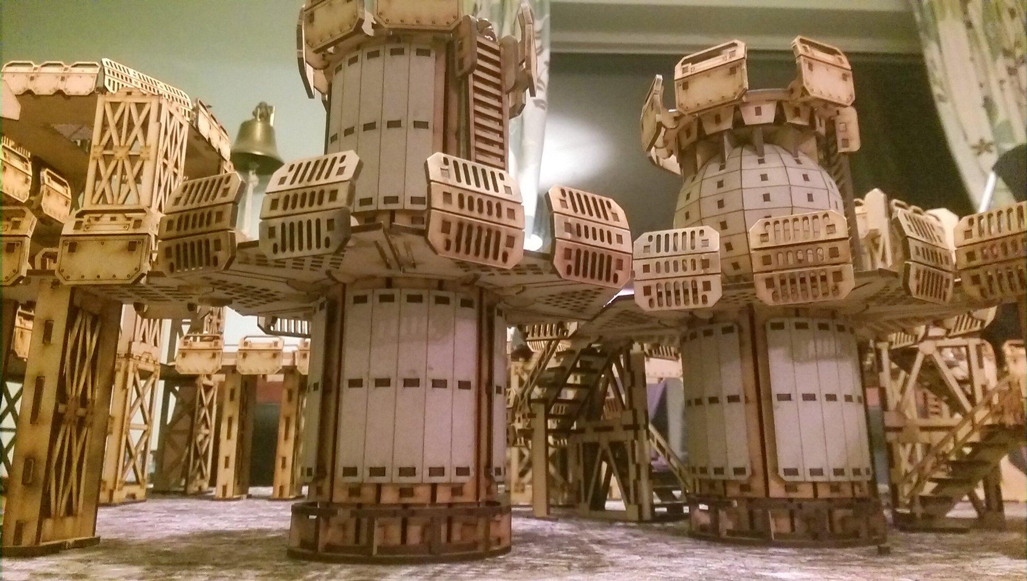 Necromunda - TT Combat Hive terrain | YakTribe games